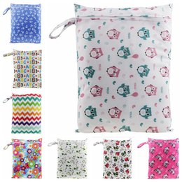 Wholesale Nappy Bags Portable - Baby Diaper Bags Nappy Stackers Bags Infant Stroller Cart Bags Wet Dry Cloth Storage Bag Portable Zipper Waterproof Diaper Bag 100pc OOA2596