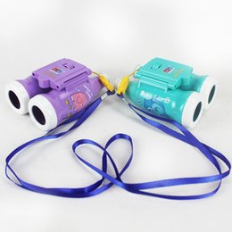 Wholesale Telescope Cartoon - Children Mini 6 * 25 Focusable Telescope Binoculars Coke Bottle Cartoon Child Telescope Kid Toy Gift DHL free