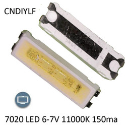Wholesale Wholesale Via China Post Air - Wholesale- Original Seoul 7020 SMD LED 6-7V 11000K 150ma 100PCS Lot Special TV Back Light Fast Delivery Via China Post Registered Air Mail