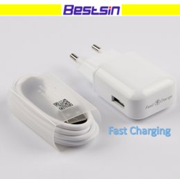 Wholesale Usb Plug Types - Bestsin 100% Original Genuine LG Fast Charging + 1M Type-C USB Data Cable Travel Wall Charger Adapter US EU Plug with LG logo