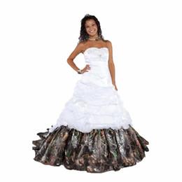 vestido celta barato Desconto 2017 Mais Novo Elegante Camuflagem Vestidos de Casamento Com Apliques vestido de Baile Longo Camo Vestido de Festa de Casamento Vestidos de Noiva WD1022