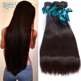 Wholesale Natural Weave Styles - Sexy 8A Star Style Peruvian Virgin Hair Straight 4 Bundles Brazilian Hair Weave Bundles Straight Brizilian Virgin Hair Weave