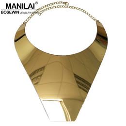 Wholesale necklace big geometric - Wholesale- MANILAI T Show Big Collar Choker Necklace For Women 2017 Fashion Wide Alloy Geometric Statement Necklaces Maxi Jewelry CE4246