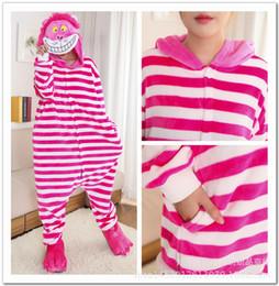 Wholesale Cheshire Cat Costumes - Unisex Men Women Adults Hoodie Animal Pajamas Kigurumi Anime Cosplay Costume Sleepwear cheshire cat