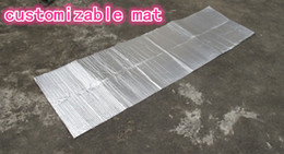 Wholesale Foil Aluminum Sheet - Wholesale- Double Sided Aluminum Foil Outdoor Camping Mat Heat Preservation Moisture-proof Ground Sheet Tent Accessories Travel Kits