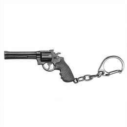 Argentina Cross Fire CF Gun Weapon Llavero Vintage Gun Shape Key Ring Llavero Zinc Alloy Meterial Guns Key Ring para hombre regalo venta al por mayor cheap cf keychain Suministro