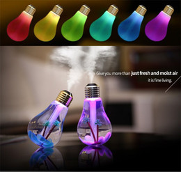 Wholesale Radiation Usb - Bulb small night light the usb mini humidifier air vehicle led small night light mute no radiation ABS PET PP material DHL free shipping
