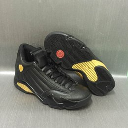 Wholesale Patents Products - 2017 Air retro 14 DMP Glod Black Men Basketball Shoes High Quality Products Mens Shoe 14s Deigning Moments Package Sport Sneakers with box