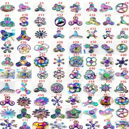 Wholesale Fantasy Modelling - 200modles Choose model Fidget spinner toys Rainbow Tri-Fidget Metal Hand Colorful EDC Gyro Toys HandSpinner spinners finger top spinning Toy