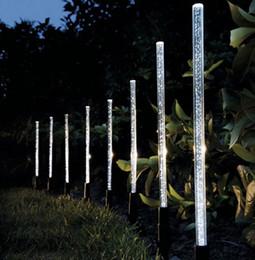 Wholesale Pathway Landscape Lighting - Solar Power Tube Lights Lamps Acrylic Bubble Pathway Lawn Landscape Decoration Garden Stick Stake Light Lamp Set LLFA
