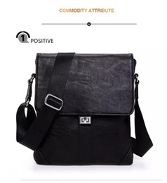 Wholesale Nylon Bag Messenger - No 2 Bad business casual men's PU Leather Messenger Bag Crossbody bags, Shoulder Bags of office work