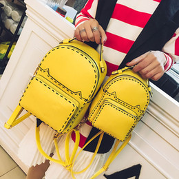 Wholesale Cat Interior Soft - 2017 brand fashion women stud backpack catwalk rivet handbag double strap back pack bags lady purse party cat thread sequin - XX01