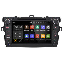 Wholesale Dvd Tv Stereo - 8'' Quad Core Android 5.1.1 Car DVD Player For Toyota Corolla 2008 2009 2010 2011 With Stereo GPS Multimedia Map Radio