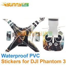 Wholesale graphic wraps - Wholesale- Waterproof PVC Phantom 3 Decals Graphic Wrap Skin Decals  Stickers  Cover for DJI Phantom 3