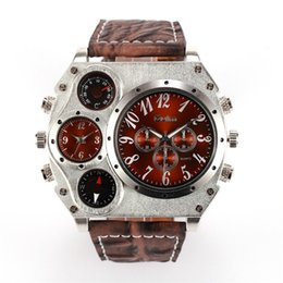Wholesale Watch Stainless Steel Compass - NEW Thermometer compass Men's sport Double working dials watches Outdoor Swiss brand luxury DZ Watch fashion INVICTA Watches