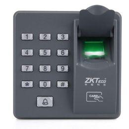 Wholesale Biometric Fingerprint Access Control - Hot Standalone Biometric Fingerprint keypad Reader for Door lock intercom Access Control 125KHZ X6 Free Shipping