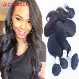 Wholesale Highest Quality Human Hair - Glamorous Peruvian Hair Weft 8-34Inch Body Wave Human Hair 3 Bundles High Quality Malaysian Indian Brazilian Wavy Hair Extensions