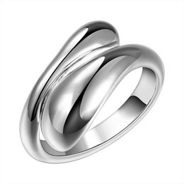 Wholesale Drop Shape Ring - Women Ring Accessories Drop Water Shape Opening Adjustable Size Ring New Design Finger Ring for Lady Double Round Head