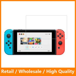 Wholesale Tempered Glass Switch - Tempered Glass for Nintendo Switch 9H Ultra Thin Clear Protective Film Explosion-proof Screen Protector Nintendo Switch
