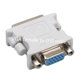 Wholesale Dual Dvi Adapter - DVI(24+5) Dual Link male to VGA female Monitor Adapter Converter For HDTV