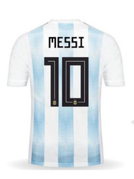 Wholesale Messi Quality Jersey - Discount Cheap 18-19 Home men 10 Messi Thai Quality Soccer Jerseys,Customized Name Number 21 Dybala 11 Di Maria 9 Icardi 8 Pérez Soccer Wear