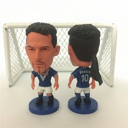 Wholesale Interactive Cartoons - Miniverse 2016-17 Season Club Player Souvenir Dolls Real 10 Roberto Baggio Football Dolls 6.5 cm Height Resin blue Kit Mini Toy