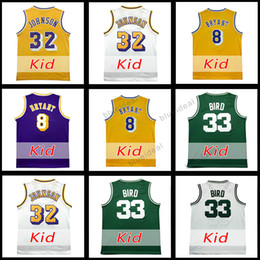 Wholesale Youth Basketball Jerseys - Youth Basketball Jerseys Allen Iverson Basketball Youth Jersey Steph Curry Kid 32 Magic Johnson Jersey Kevin Durant Kids Clothing Size S-XXL