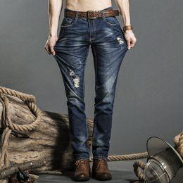 Wholesale Exclusive Jeans - High-quality stretch jeans exclusive design famous casual cowboy jeans men's straight self-cultivation waist men's jeans PG518