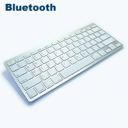 Wholesale Keyboards For Iphone - Newest Ultra-slim Multimedia Wireless Bluetooth Keyboard For iPad iPhone Macbook Android Tablet PC Bk3001 20pcs lot Free DHL Shipping
