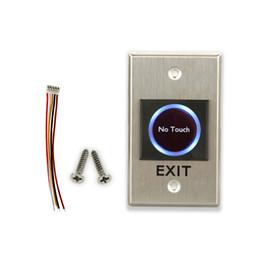 Interrupteur de sortie en Ligne-Vente en gros - Nouvelle conception infrarouge sans touche de sortie tactile pour bouton de sortie du système de contrôle d'accès interrupteur bouton de sortie émergente / push