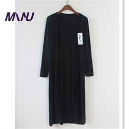 Wholesale Thin Sweaters For Women Loose - Wholesale-7xl plus size 2015 lady cotton sweater Fashion long cardigan women loose sweater for female outerwear coat with pockets