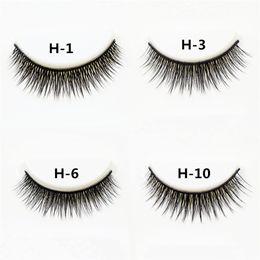 Wholesale Super Long False Eyelashes - 3 pairs  set 3D Cross Thick False Eye Lashes Extension Makeup Super Natural Long Fake Eyelashes JNG