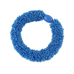 Wholesale Elastic Plastic Rope - Latest Fashion Design Hair Jewelry Elastic Rough Rope with Fluffy Velvet Wrapped Hair Rope Band for Women