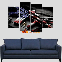 Discounted Home Decor Canada Large Canvas Prints Online 4 Picecs Set Large Canvas Prints Gun