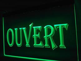 Wholesale Ouvert Led - LK162g- OUVERT OPEN Shop LED Neon Light sign