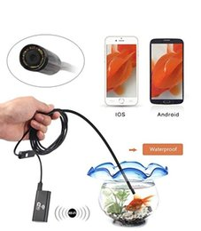 Wholesale Borescope Iphone - 2017 NEW WiFi Endoscope Inspection Camera 720P 8mm Borescope for iPhone IOS Android