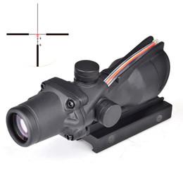 2019 оптическая прицельная винтовка ACOG 4x32 тактический охота прицел оптический прицел Airsoft прицел реальный зеленый красный волокна прицел для стрельбы ружье скидка оптическая прицельная винтовка