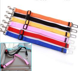 Wholesale Clip Nylon Dog Collar - New Dog Pet Car Safety Seat Belt Seat Clip Seatbelt Harness Restraint Lead Adjustable Leash Travel Collar LLFA