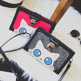 Wholesale Velvet Boxes Tie - 2016 new cute cartoon cat bag stereoscopic shaping small box shoulder bag manufacturers