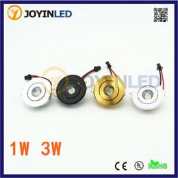 светодиодный 3w мини-раунд Скидка Оптовая торговля-круглый Затемняемый мини светодиодный прожектор 3W белый черный серебряный золотой шкаф ac85-265V включает светодиодные мини-лампы