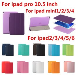 Wholesale Ipad Clear Screen Covers - New PU Leather Smart Cover For Ipad Pro 10.5 inch Smart Magnetic Clear Flip Stand Case With Sleep Wake For ipad mini 1  2  3  4 for ipad air
