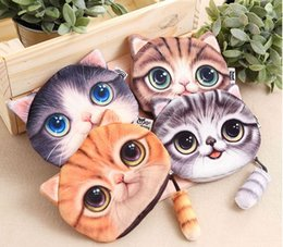 Wholesale Canvas Business Cards - Fashion cartoon style lovely women short coin purses free shipping wallet animal print purse female bag mini wallets
