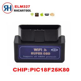Wholesale Diagnostic Ipad - Wholesale- Black Mini WiFi ELM327 OBD2 Car Auto Diagnostic Scan Tool Mini ELM 327 Wifi pic18f25k80 For iPhone For iPad For iPod Android