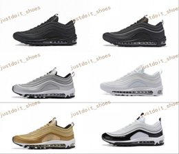 Wholesale Man Max Shoe - New Max 97 Mens Low Running Shoes Cushion Men OG Silver Gold Anniversary Edition Sneakers Man Maxes Sport Athletic Sports Trainers Shoes