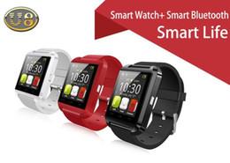 Orologio da polso U8 da polso Orologio da polso con pedometro Messaggio SMS Sync Call Reminder Orologio a distanza Smartwatch Bluetooth Smart Watch da