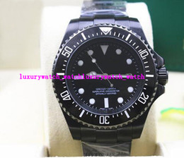 Wholesale Luxury Pvd Mens - Luxury Wristwatch NEW MENS STAINLESS STEEL PVD Coating CERAMIC BLACK Dial #116610LN 44MM Mechanical Men Watches Top Quality