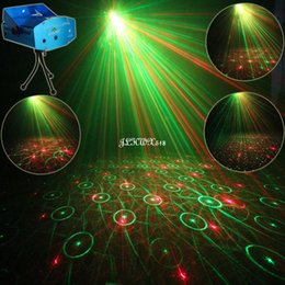 Wholesale Laser Projector Dance - Wholesale- ESHINY Mini R&G 4 Laser Patterns projector Club Bar Dance Disco Home Coffee Party Xmas DJ Environment Stage Lighting Light N65Y4