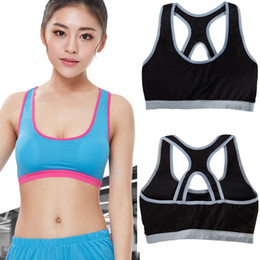 Wholesale 16 Black Rims - High quality 16 colors Seamless Sports bra Gather Breathable Hollow Out, No rims,Running Gym Shakeproof Fitness Cropped Top Female Yoga Bras