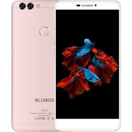 Wholesale Android Gps 2mp - 5.5 inch Bluboo Dual Phone 13MP+2MP Dual Back Camrea MTK6737T Quad Core Android 6.0 2G 16G real 4G LTE Smartphone
