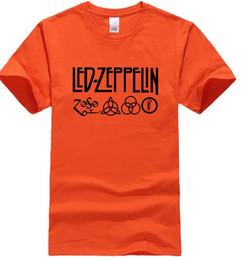 Wholesale Rock Band S - Fashion Men's T-shirts 2017 Summer Cotton O-neck Tshirt Led Zeppelin Rock Zoso Band Streetwear Hip Hop Top Tees Shirt Crossfit
